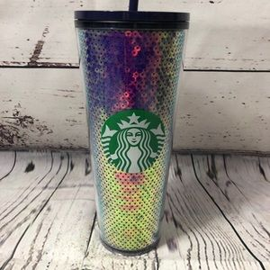 Starbucks Holiday 2020 Blue Sequin Tumbler Cup
